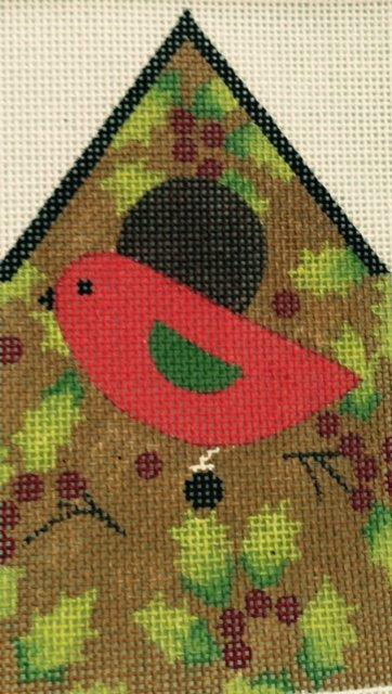 Ornament Bird with Holly Birdhouse
