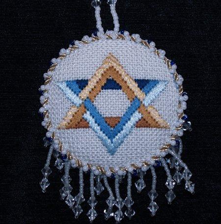 Judaic Star of David Ornament