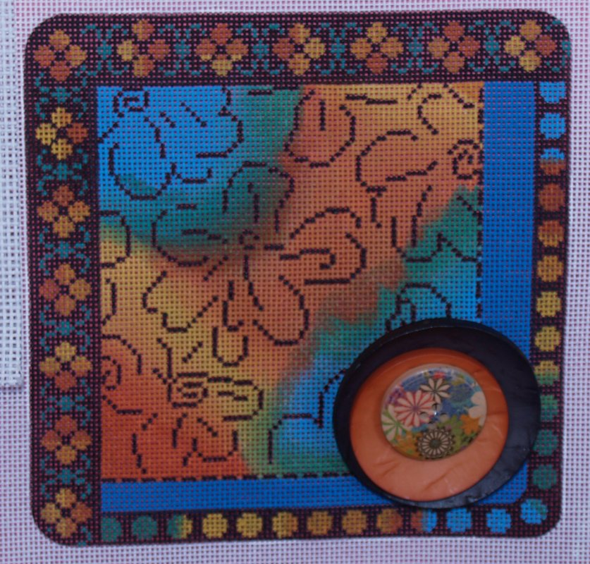 Flower Square with Button