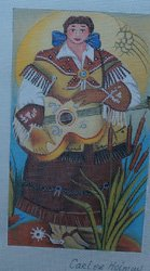 Western Lady with Guitar