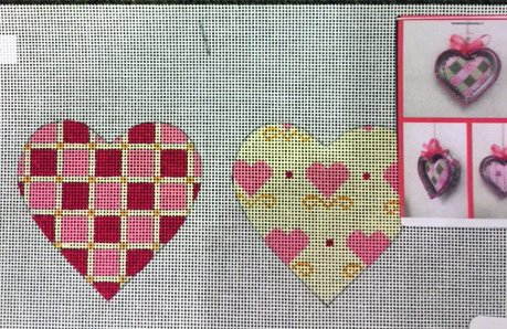 Pink and Yellow Double Sided Heart
