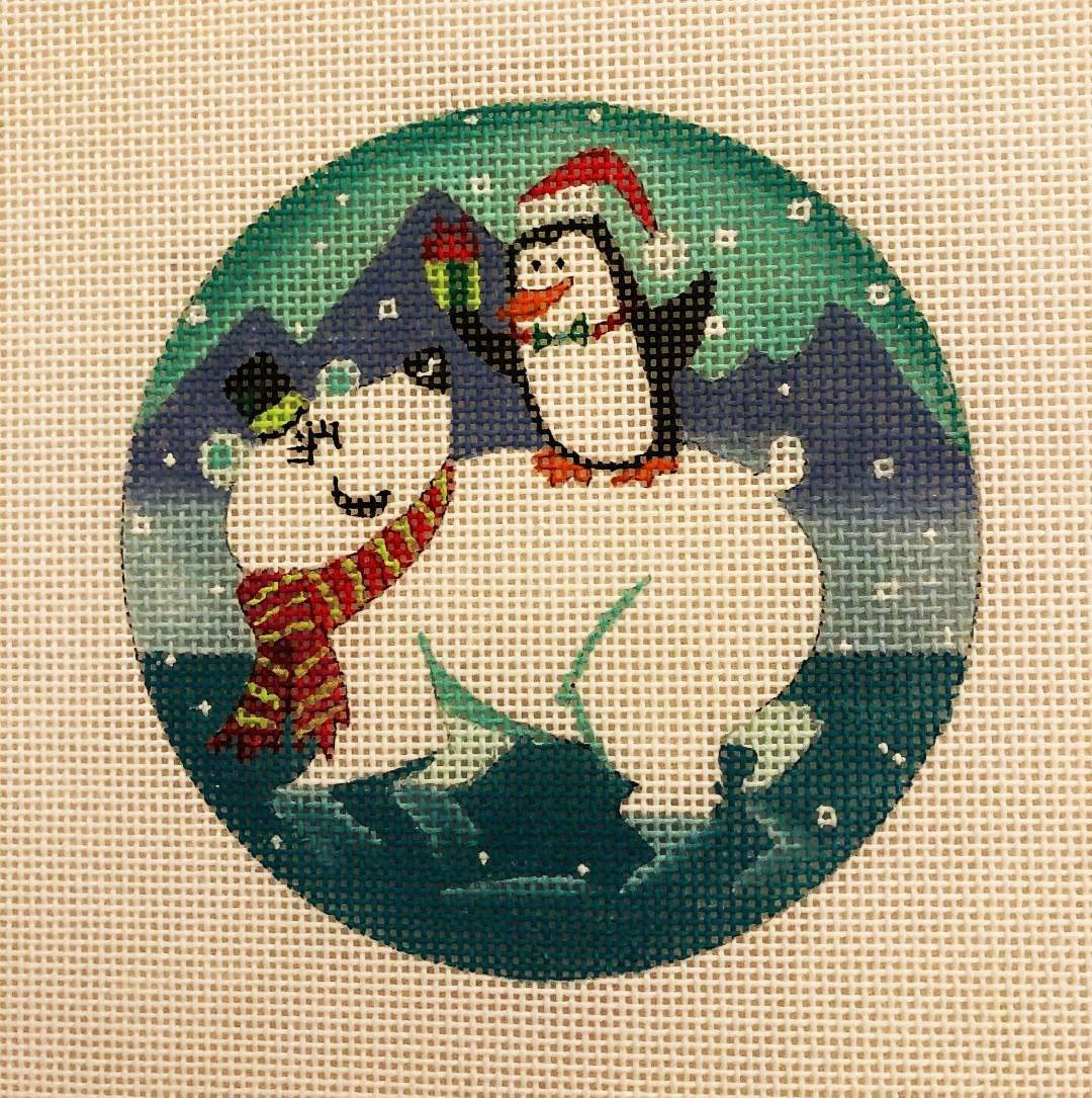 Ornament, Penguins on Polar Bear