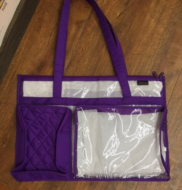 Purple Tote with Clear Insert