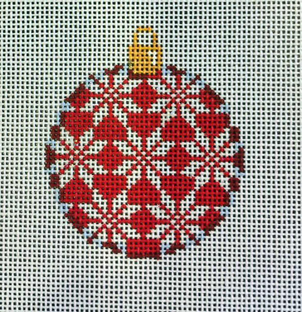 Ornament,  Snowflakes on Red
