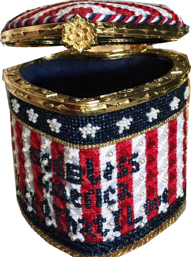 Holiday Lidded Gift Box: God Bless America Land that I Love