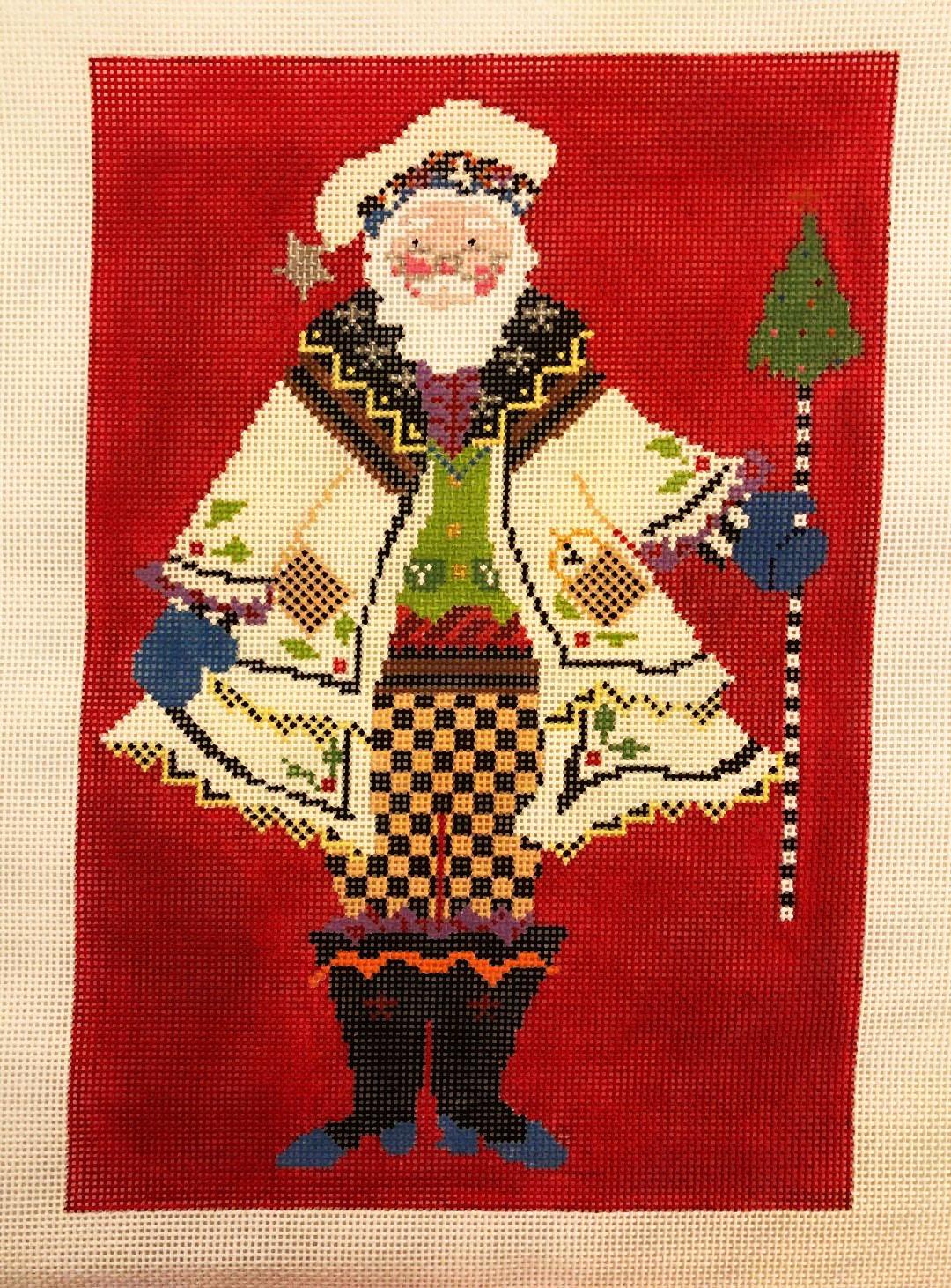 Pillow/Stand-up Folk Santa