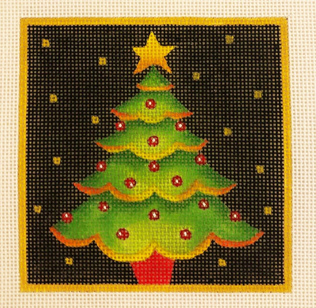 Ornament, Tree With Gold Hems