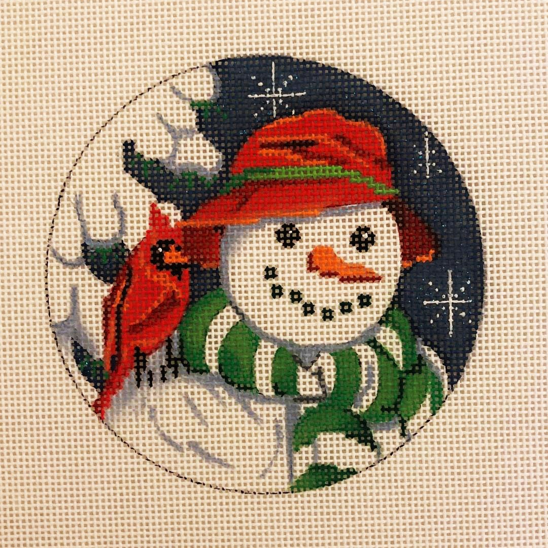 Ornament, Red Hat Snowman