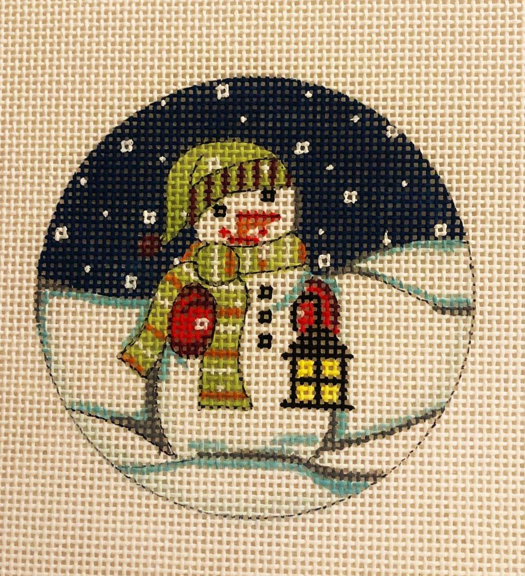 Ornament, Snowman Round