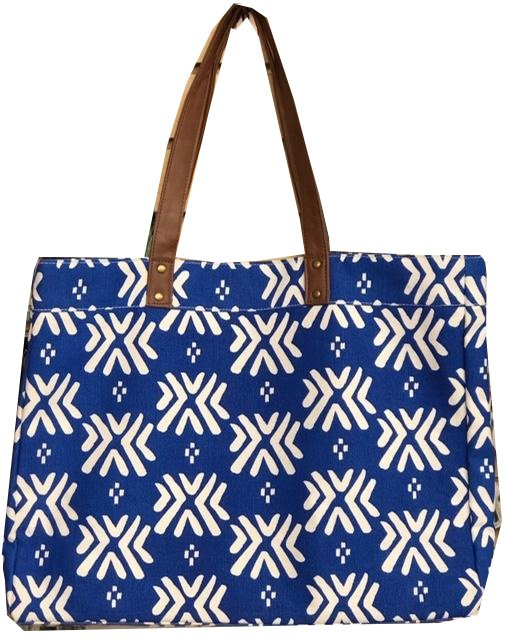 Tote, Decorative Blue