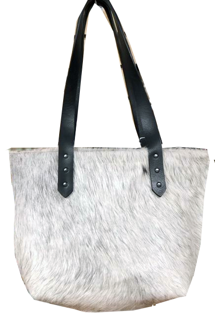 Tote, Faux Natural Fur