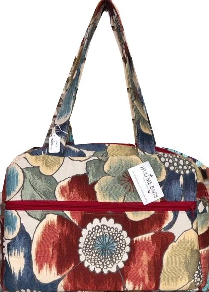 Tote, Beautiful floral with large center flower