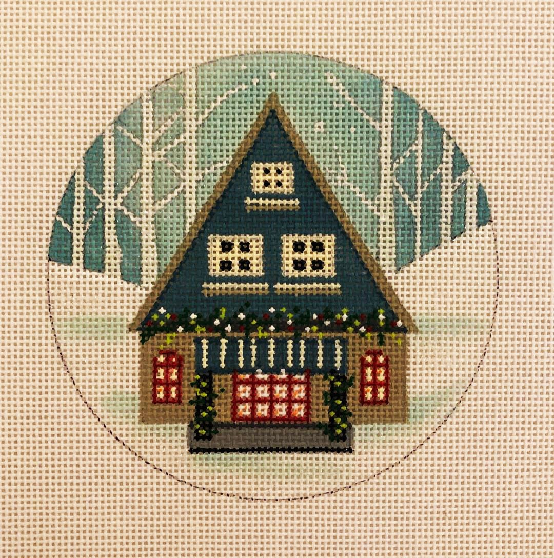 Ornament, Winter Cabin