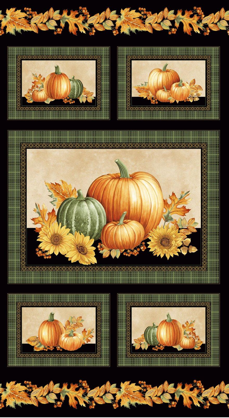 Autumn Elegance Panel 1664M