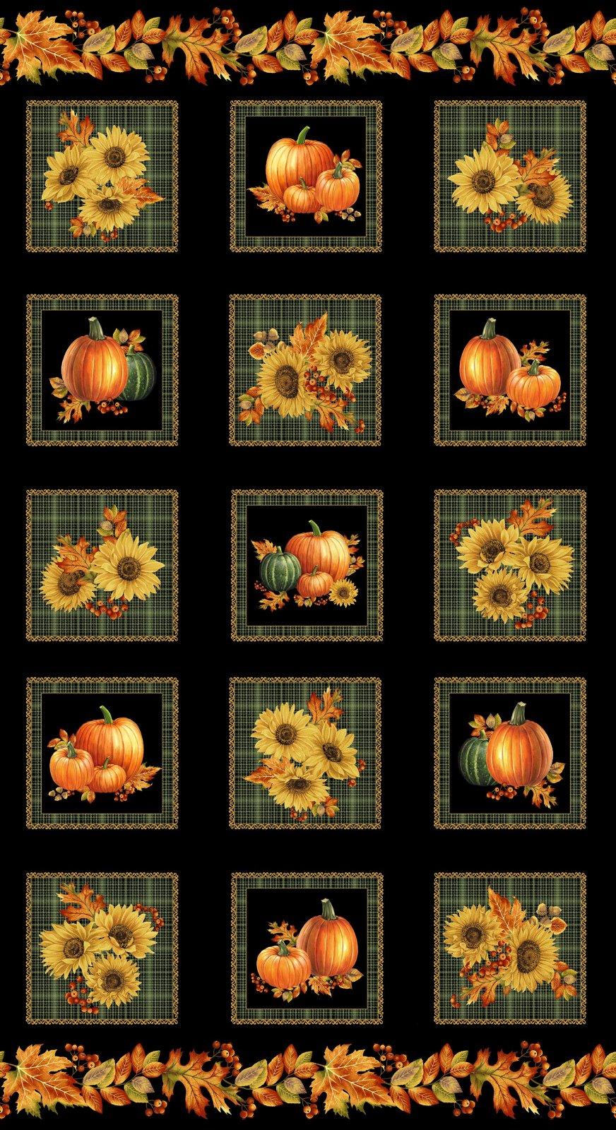 Autumn Elegance Panel 1665M
