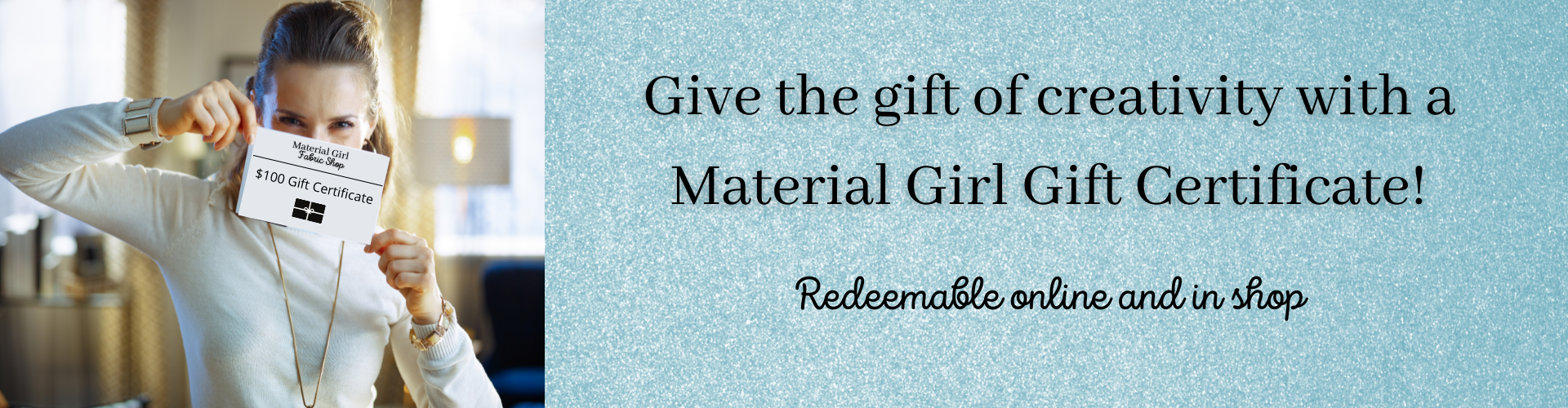 Material Girl Fabric Shop online gift cards for quilting