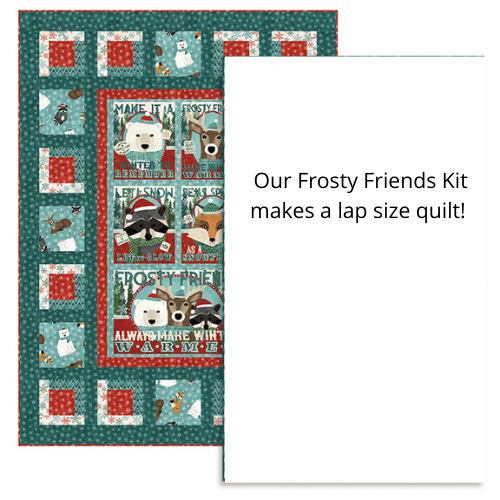 Frosty Friends Flannel Kit Lap Size