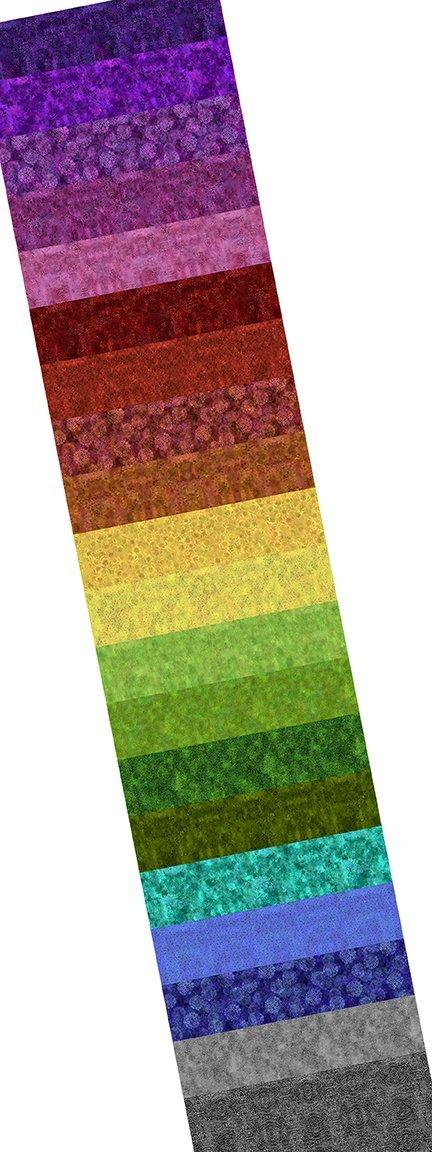 Rainbow of Jewels 2 1/2 Strips