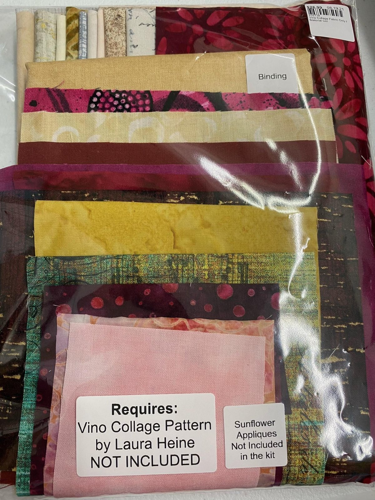Vino Collage Fabric Only Kit