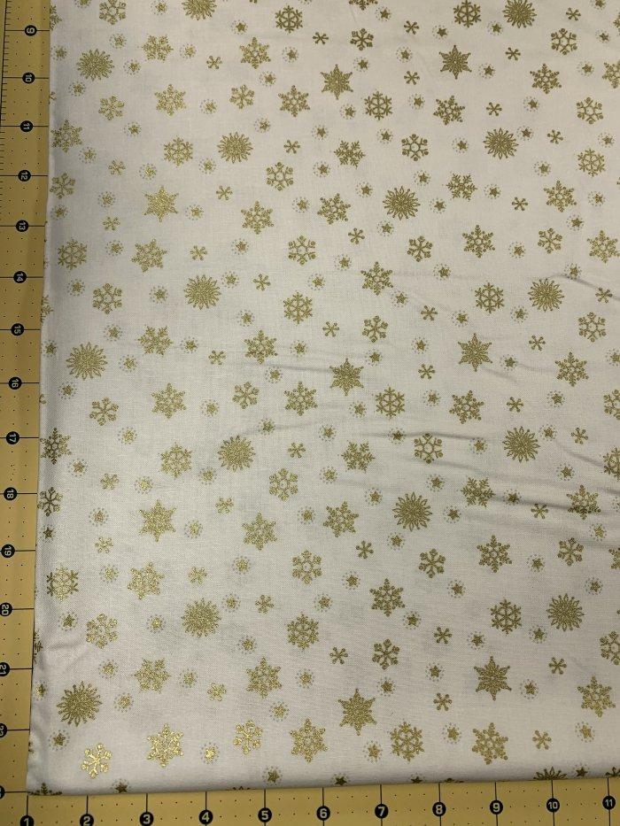 12 Days - Stars Gold on Cream with Metallic