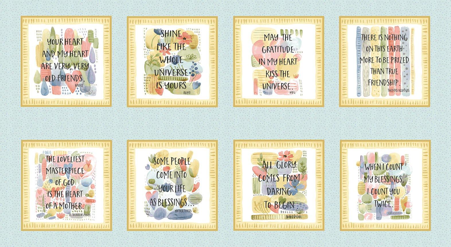 Blessings - Inspiration Blocks - 24 Panel - 8 Blocks - 8.5 x 9