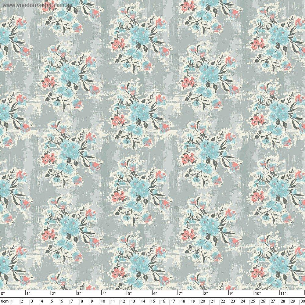 Abbie Floral Grey
