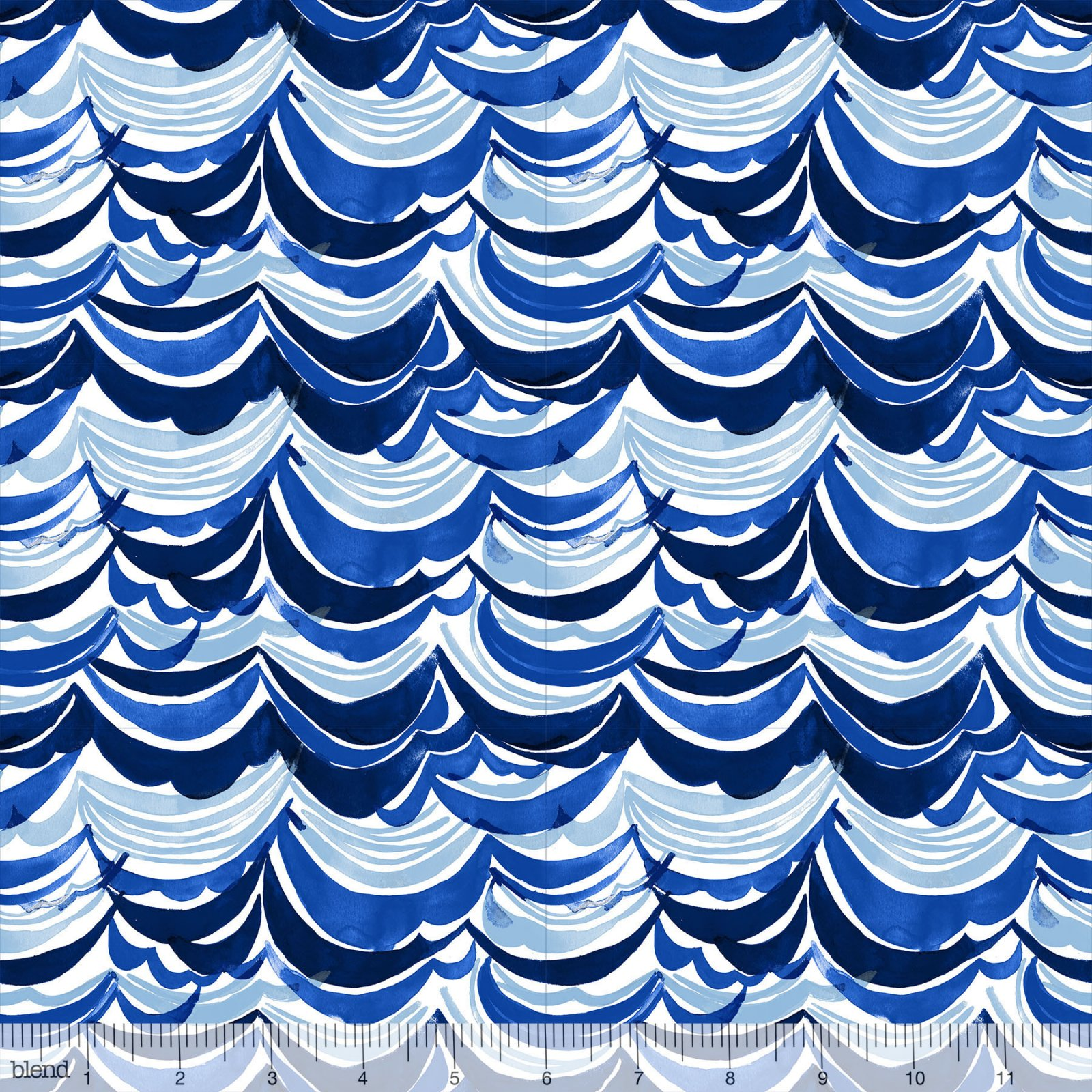 Artic Playground - Watercolor Waves - Navy