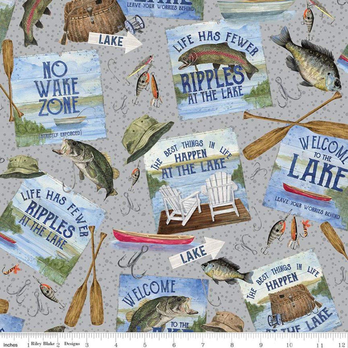 At The Lake C10550-Gray Main by Tara Reed for Riley Blake Designs
