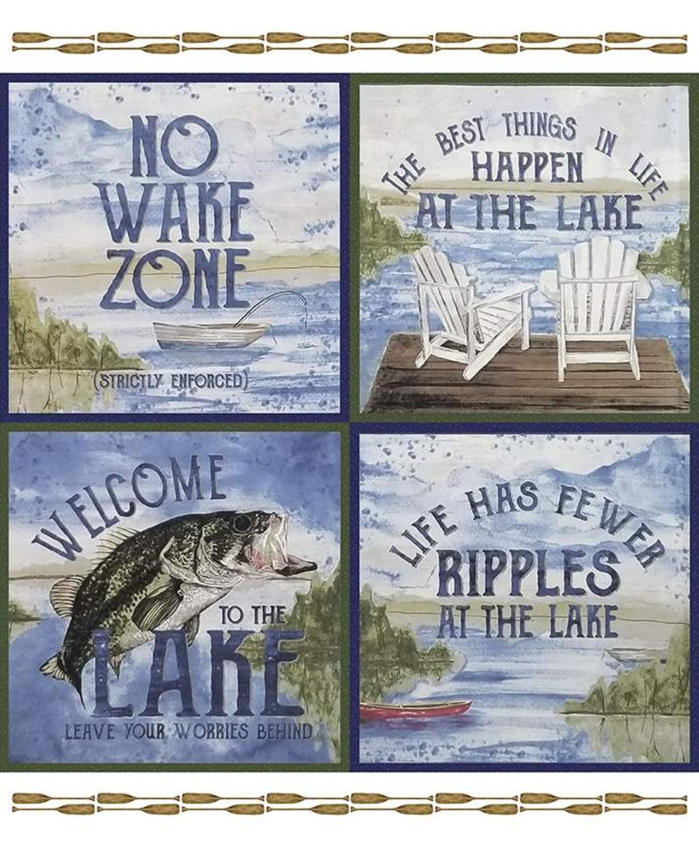 At The Lake Panel 36X43  Squares are 18  P10556-PANEL by Tara Reed for Riley Blake Designs