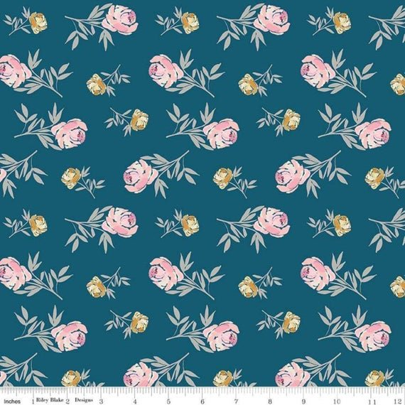 Blooms and Bobbins - Blue Floral