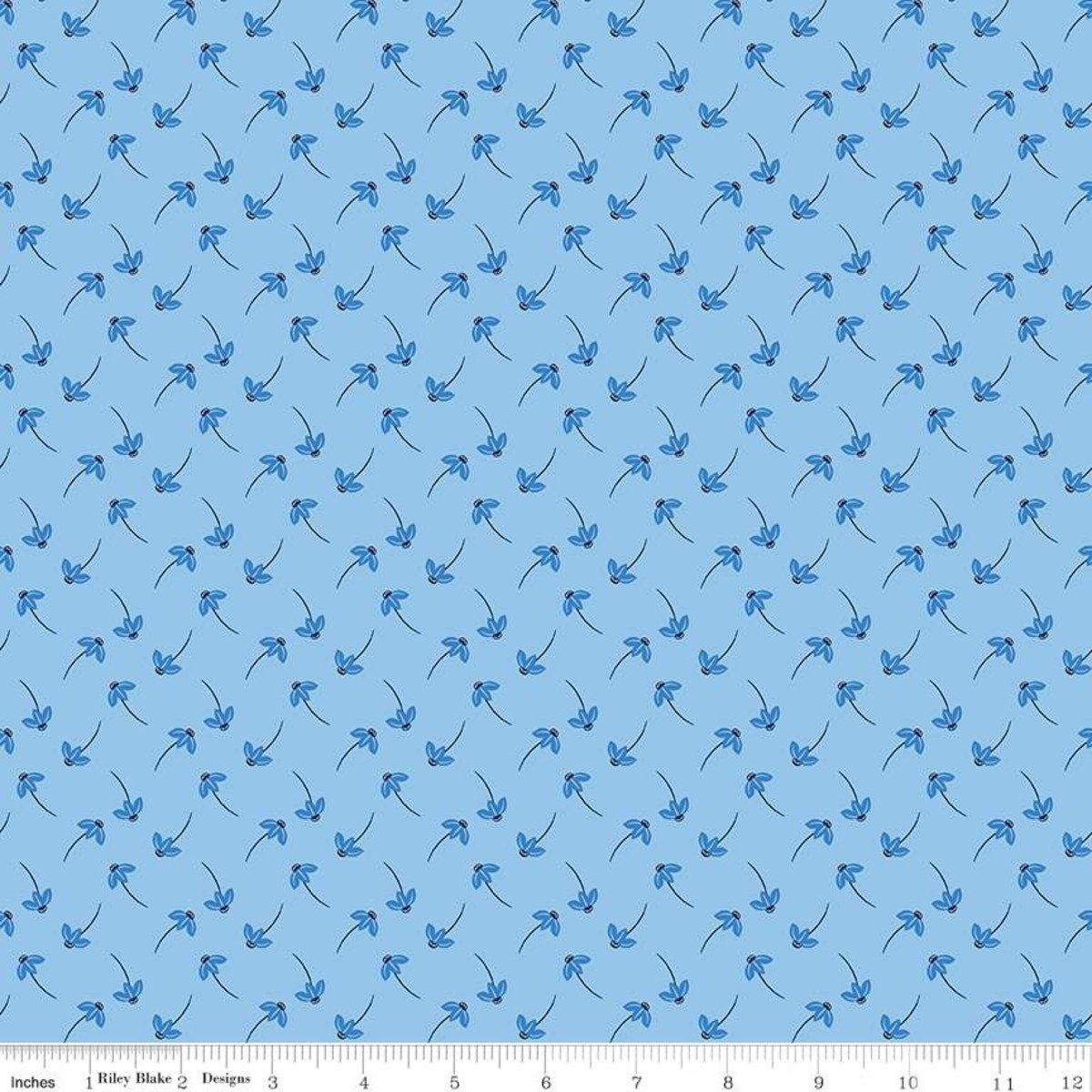 Blue Stitch - Daisy Sky