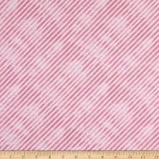 Botanical Oasis - Pink Diagonal Stripe