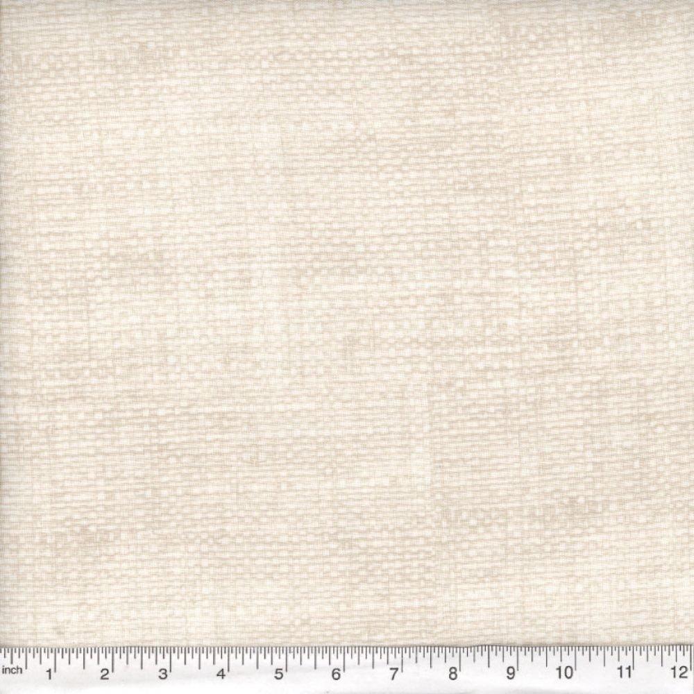 Burlap Print Blender - White