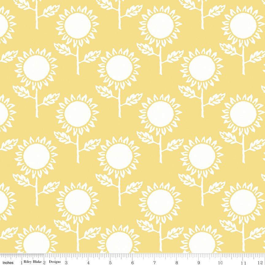 Hungry Animal - Alphabet Sunflowers - Yellow