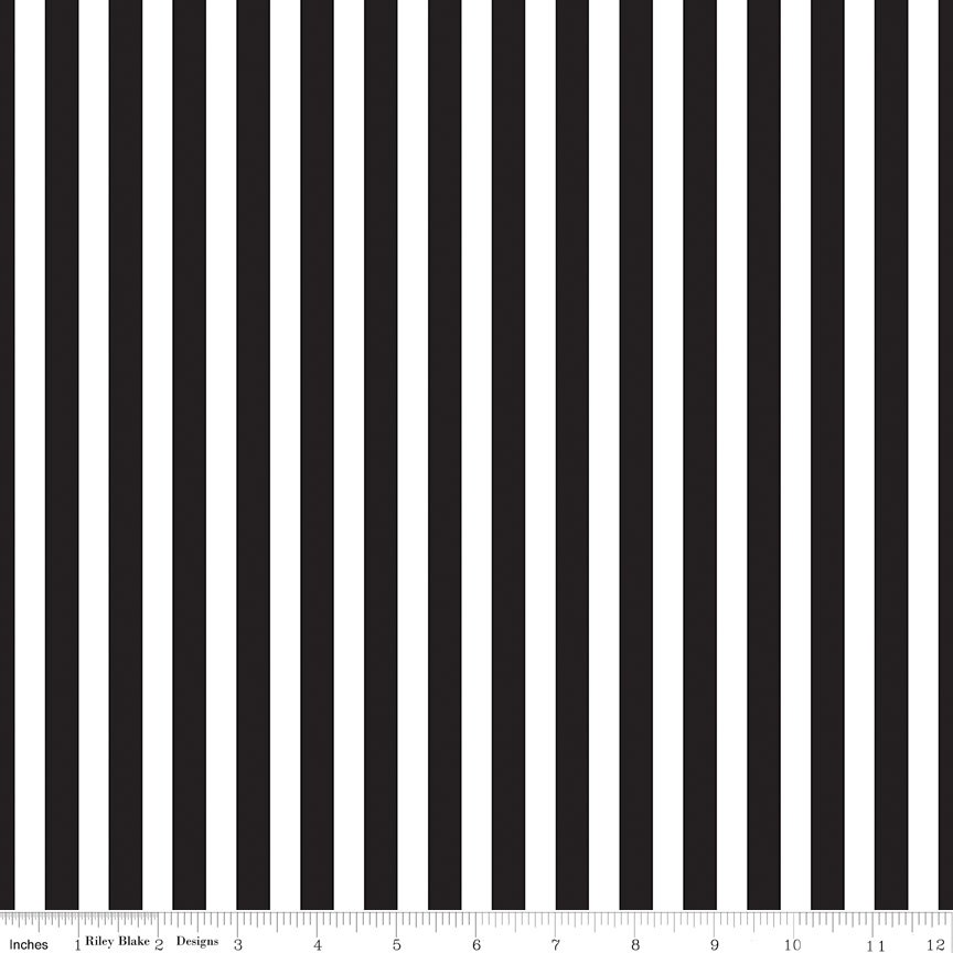 Pirate Tales - Stripes - Black and White