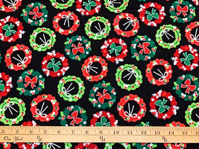 Camp Joy - Holiday Wreaths - Black