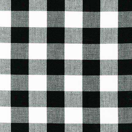Carolina Gingham - 1 Gingham Check - 43 Wide - Black