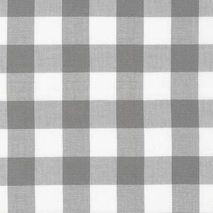 Carolina Gingham - 1 Gingham Check - 43 Wide - Grey