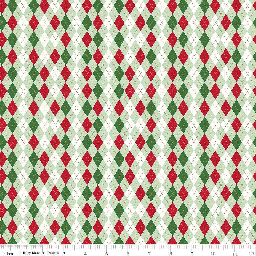 Christmas Adventure - Argyle - Sweetmint