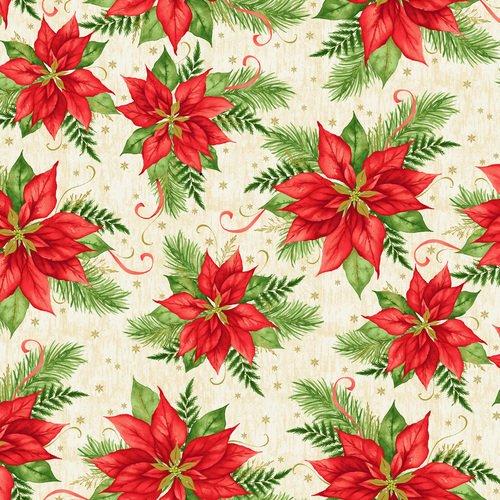 Christmas Village -  Poinsettia - Ivory