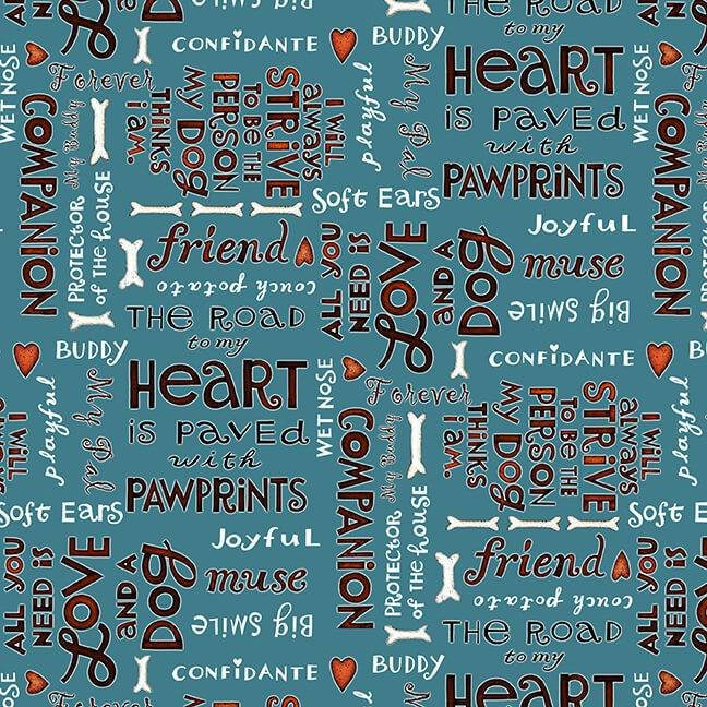 All You Need is Love and a Dog - Word Print - Blue