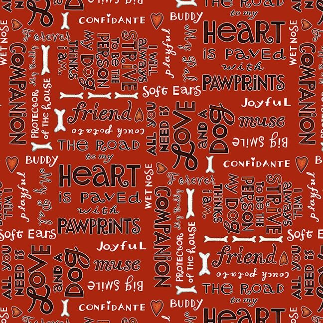 All You Need is Love and a Dog - Word Print - Red