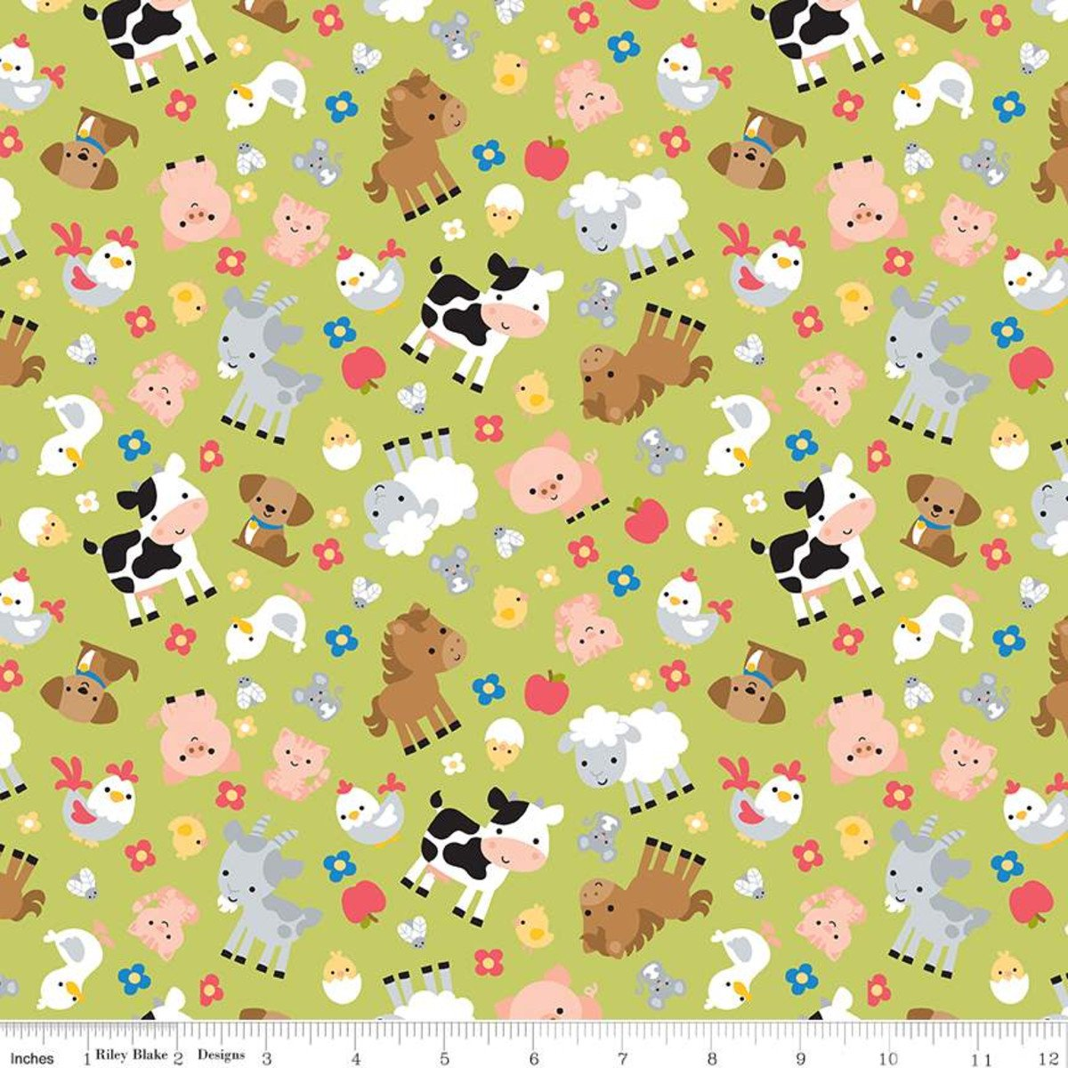 Down on the Farm - Farm Animals - Green