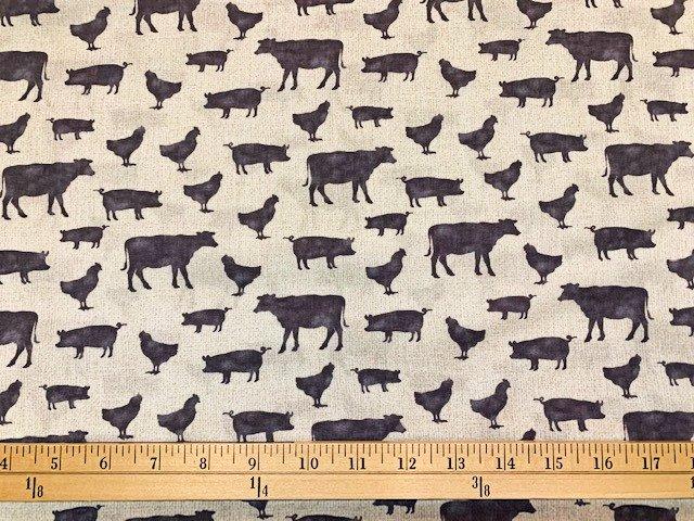 Farm Sweet Farm - Farm Animals Tan/Grey