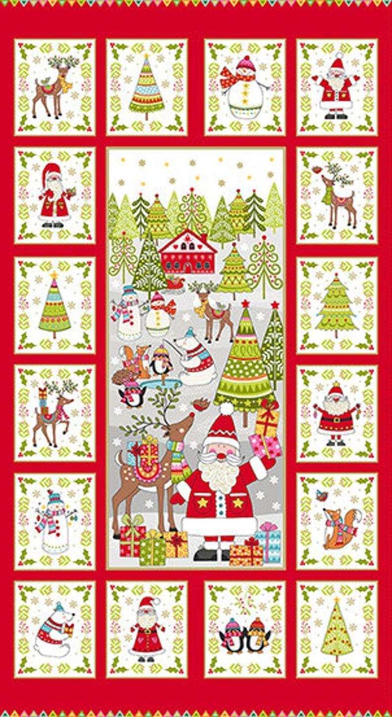 Festive - Christmas Panel Multi - 24 x 44