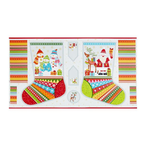 Festive - Stocking Pattern Panel