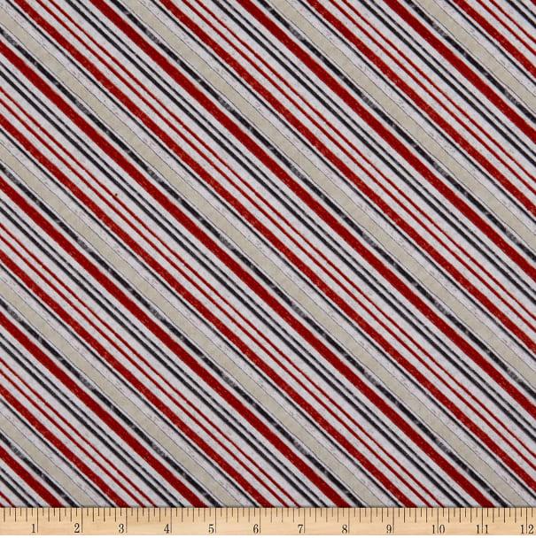 Free Range Fresh - Red, White Tan Diagonal Stripe