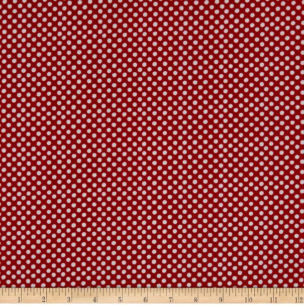 Free Range Fresh - Dots White on Red