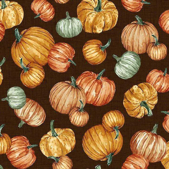 Grateful - Plentiful Pumpkins - Brown - Michael Miller - DCX9662-BROW-D