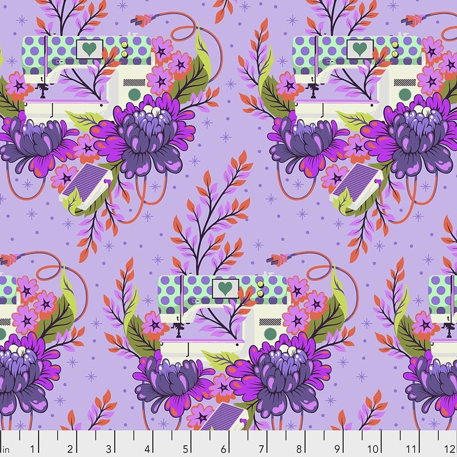 HomeMade by Tula Pink - Pedal to the Metal - Night - Purple